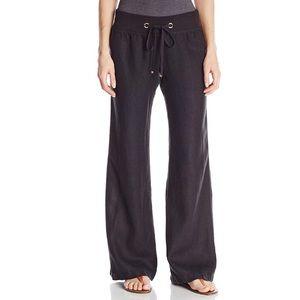 Lilly Pulitzer Black Linen Beach Pants